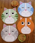 Kippers Whimsical Kitty Placemats Pattern by Susie C Shore Designs