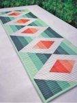 Cut Loose Press - Aztec Diamond Table Runner Pattern by Krista Moser