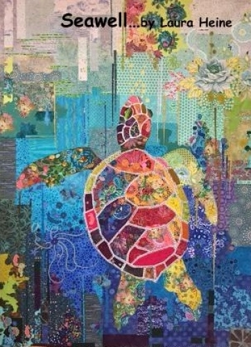 Seawell Sea Turtle Collage Pattern by Laura Heine