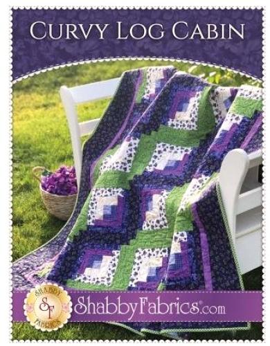 Curvy Log Cabin Quilt Pattern by Shabby Fabrics
