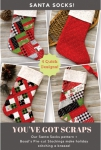 Santa Socks Pattern by Poorhouse Quilt Designs