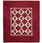 Cut Loose Press - Red Tulip Basket Mini Quilt Pattern