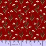 MARCUS BROTHERS - R33 Heritage Red & Green - Judie Rothermel - Floral - Leaves - Red