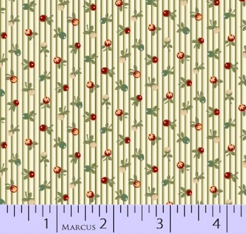 MARCUS BROTHERS - R33 Heritage Red & Green - Judie Rothermel - Stripe - Multi