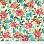 MODA FABRICS - Starflower Christmas - Holly Berry - White