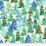 MODA FABRICS - Starflower Christmas - Trees - White