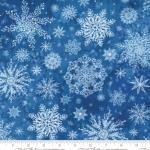 MODA FABRICS - Starflower Christmas - Snowflakes - Blue