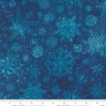 MODA FABRICS - Starflower Christmas - Snowflakes - Navy