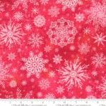 MODA FABRICS - Starflower Christmas - Snowflakes - Red