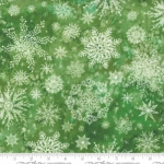 MODA FABRICS - Starflower Christmas - Snowflakes - Green