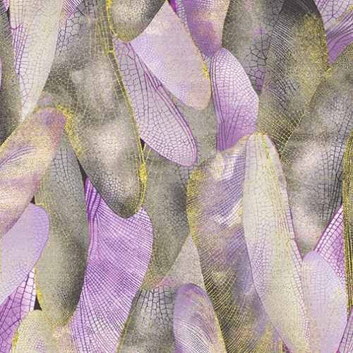 BENARTEX - Dragonfly Dance - Gilded Wings Lavender/Gray - #2204-