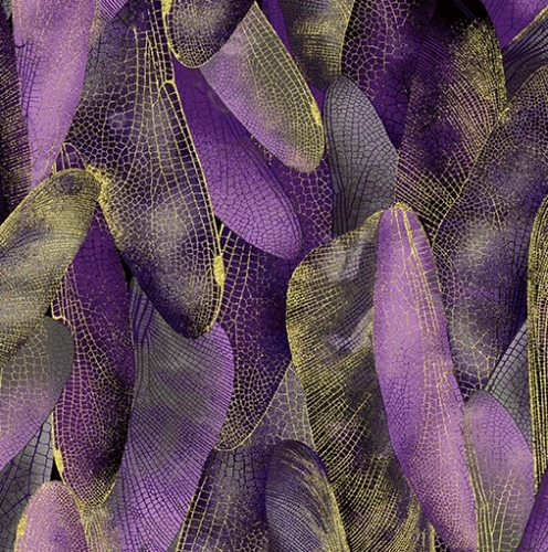 BENARTEX - Dragonfly Dance - Gilded Wings Purple