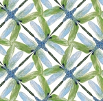 BENARTEX - Dragonfly Dance - Pinwheel White/Green
