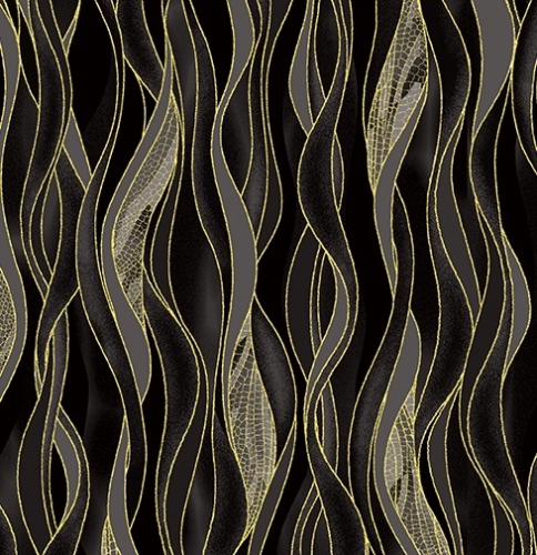 BENARTEX - Dragonfly Dance - Black/Gray Waves