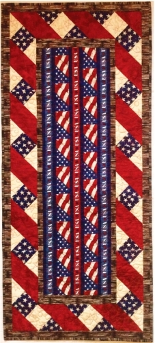 Cut Loose Press American Honor Table Runner Quilt Pattern