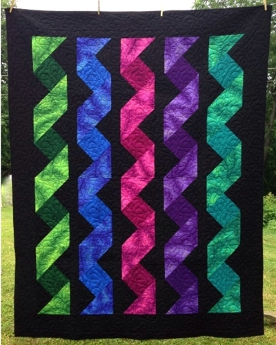 Cut Loose Press Cascading Ribbons Quilt Pattern CLPCLA60 Quilt Adorable Quilt Patterns
