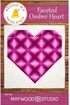 Faceted Ombre Heart Quilt Pattern by Needle in a Hayes Stack