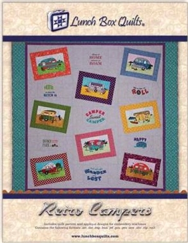 Retro Campers Applique Machine Embroidery Pattern With Redemption