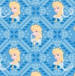 CAMELOT FABRICS - Disney - Frozen Alpine Wonder Collection - Elsa Fair Isle - Blue