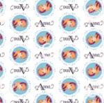 CAMELOT FABRICS - Disney - Frozen Alpine Wonder Collection - Anna Medallion - White
