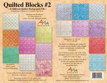 Quilted blocks of annas awesome applique designs