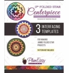 17 inch Folded Star Centerpiece Interfacing Template by Plum Easy Patterns