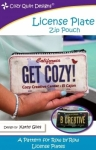 License Plate Zipper Pouch Pattern by Cozy Quilt Designs