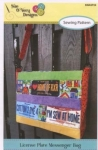 License Plate Messenger Bag by Sue OVery Designs