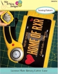 License Plate Rotary Cutter Case Pattern by Sue OVery Designs
