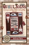 Welcome Fabric Quilt Sign by The Wooden Bear