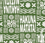 CAMELOT FABRICS - The Lion King Collection - Tribal - Green