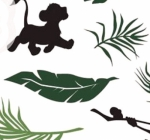 CAMELOT FABRICS - The Lion King Collection - Leaves - White