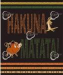 CAMELOT FABRICS - The Lion King Collection - Hakuna Matata Panel - PANEL - PL248 - Multi
