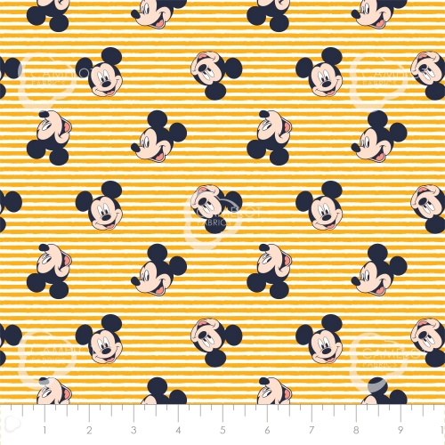 CAMELOT - Mickey Mouse - Oh Boy Stripes Yellow - #2321-