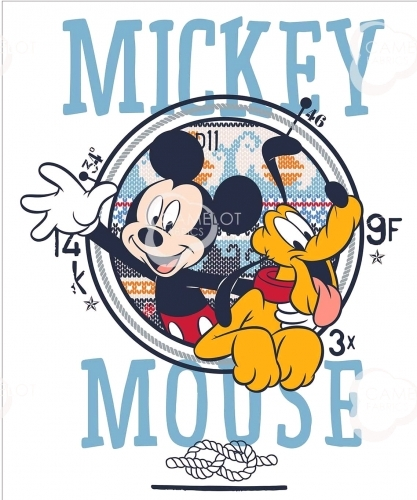 CAMELOT - Mickey Mouse - Oh Boy Mickey & Pluto - PANEL - PL228