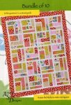 Bundle of 10 Quilt Pattern by Christine Conner