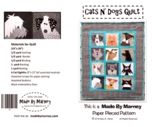 Cats N Dogs Quilt By Marney 744674434128 Quilt In A Day Patterns