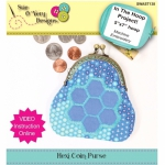 Hexi Coin Purse In the Hoop by Sue O
