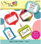 Tags In the Hoop - Set 1 by Sue O'Very