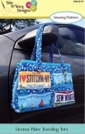 License Plate Traveling Tote  by Sue OVery Designs