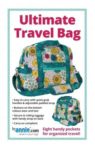Ultimate Travel Bag Pattern By Annie 815217020433 Quilt In A Day