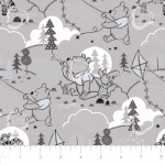 CAMELOT FABRICS - Wonder & Whimsy - Cloud And Kites Gray