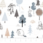 CAMELOT FABRICS - Wonder & Whimsy - Forest Friends White Forest
