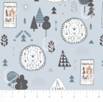 CAMELOT FABRICS - Wonder & Whimsy - Adventure Awaits Blue