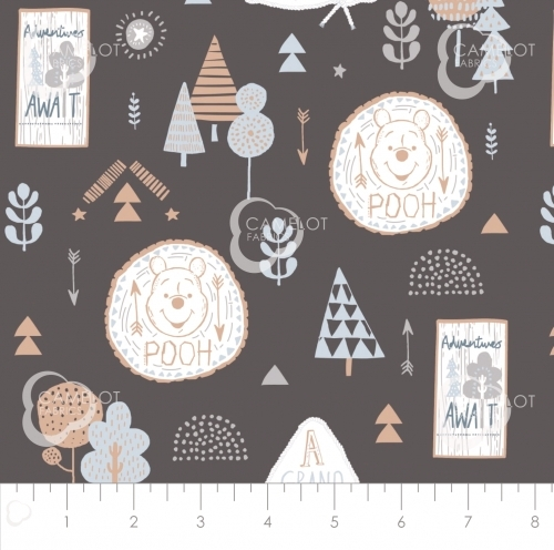 CAMELOT FABRICS - Wonder & Whimsy - Adventure Awaits Graphite - #2175-