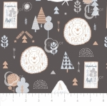 CAMELOT FABRICS - Wonder & Whimsy - Adventure Awaits Graphite