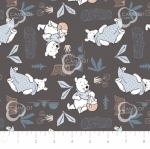 CAMELOT FABRICS - Wonder & Whimsy - Blankets And Honey Graphite