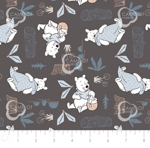 CAMELOT FABRICS - Wonder & Whimsy - Blankets And Honey Graphite - #2172-