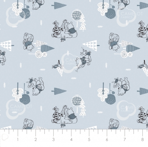 CAMELOT FABRICS - Wonder & Whimsy - Forest Blue - #2166-