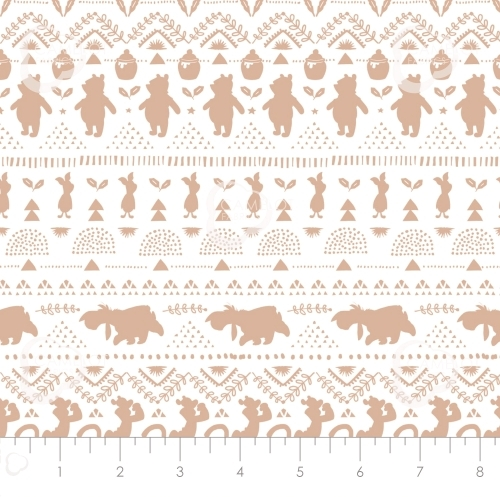 CAMELOT FABRICS - Wonder & Whimsy - Silhouette Stripe Tan - #2168-